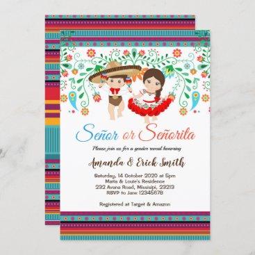 Senor or Senorita Gender Reveal Invitation