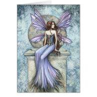 Serenity Fairy Greeting Card by Molly Harrison