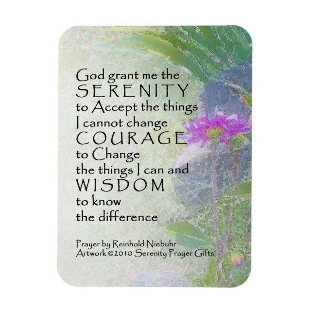 Serenity Prayer Late Summer Garden 2 Magnet