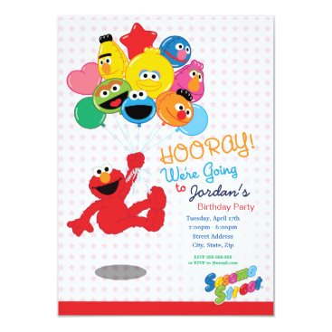 Sesame Street | Elmo and Pals - Birthday Balloons Invitation