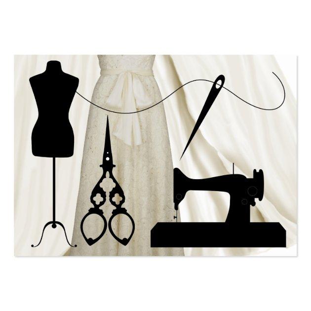 Sewing Fashion Seamstress SRF Business Card Templates