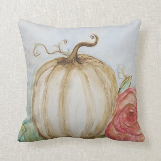 Shabby Chic Pumpkin Pillow