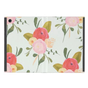 Shabby Chic Watercolor Peonies iPad Mini Case