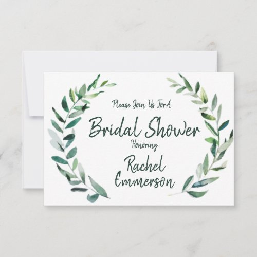 Shades of Green - Flat Bridal Shower Invitation