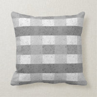 Shades of Grey Plaid Throw Pillow