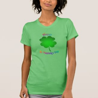 Shamrock Brick Pattern Rainbow Text Shirts