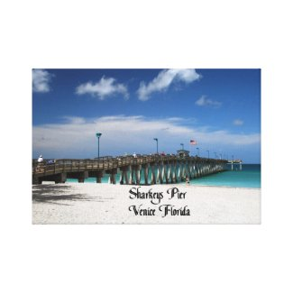 Sharkeys Pier Canvas Print