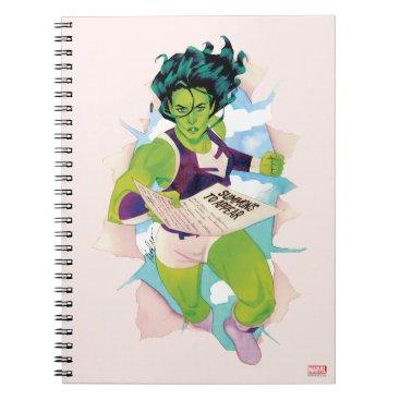 She-Hulk Delivering Summons Notebook