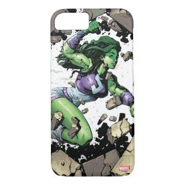 She-Hulk Smashing Through Blocks iPhone 8/7 Case