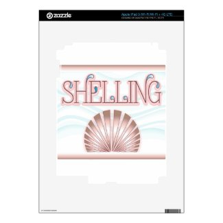 Shelling Decals For iPad 3