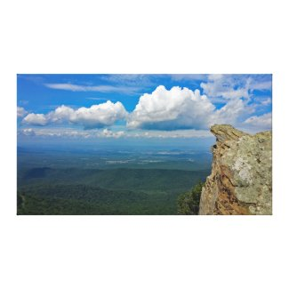 Shenandoah Valley view on the Humpback Ridge Trail Canvas Print