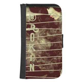 Shes Broken Earth tone Galaxy4 Wallet Case