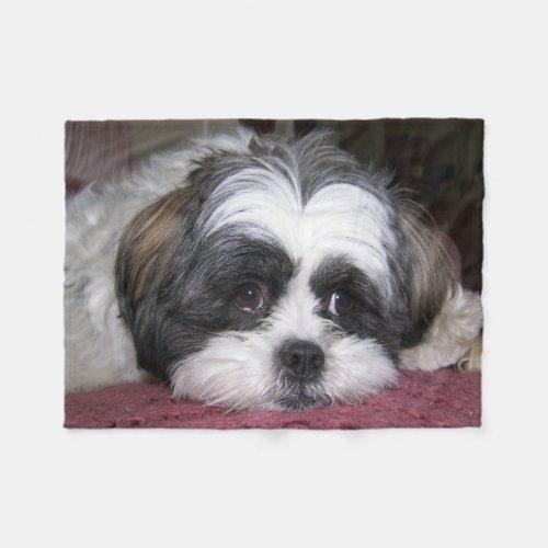 Shih Tzu Dog Fleece Blanket