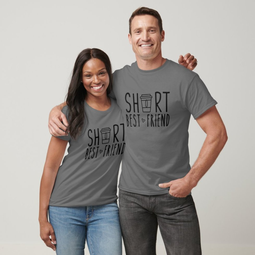 Short Best Friend Funny BFF Matching Shirts For Friends
