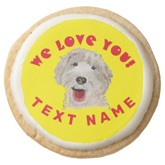 Shortbread Cookie Cute Labradoodle Dog Support