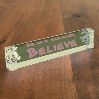 Shy Fairy Banner Desk Nameplate