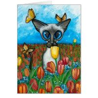 Siamese Cat by Bihrle Card