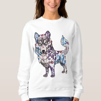 Siberian Husky - Colored Sweatshirt