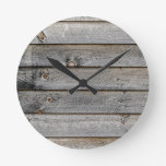 Side of a barn round wall clock