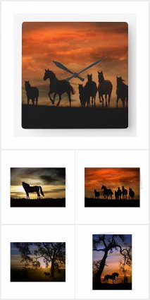 Silhouette Horses