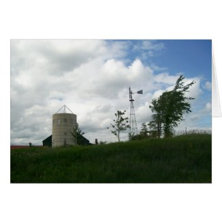 Silo and Windmill Card card