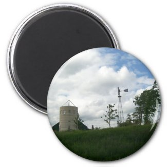 Silo and Windmill Magnet magnet