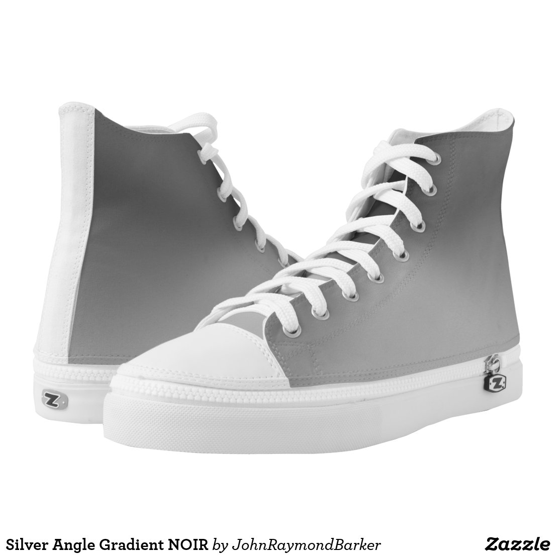 Silver Angle Gradient NOIR High-Top Sneakers