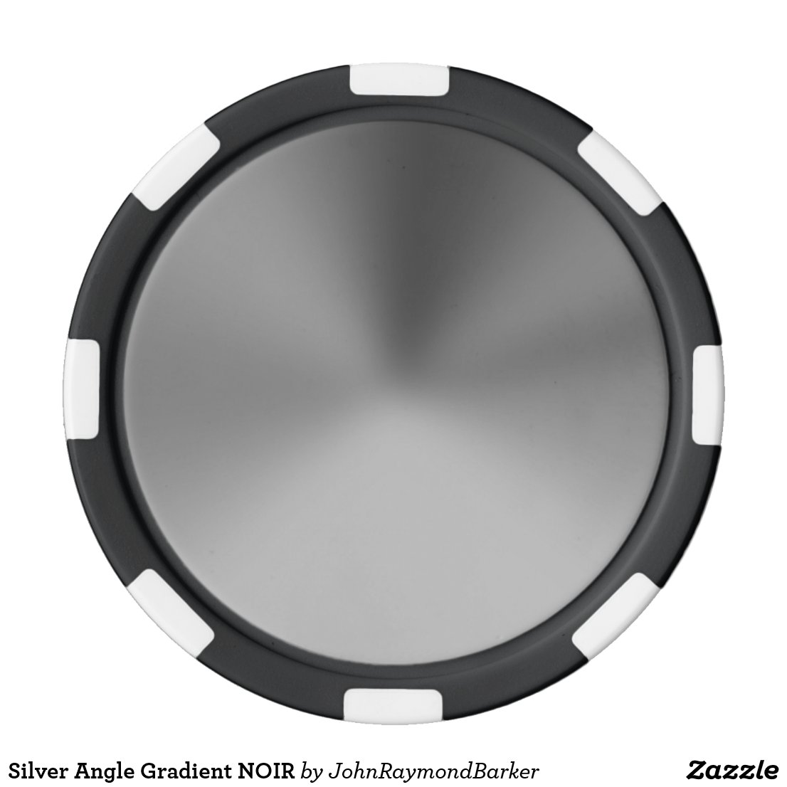 Silver Angle Gradient NOIR Poker Chips