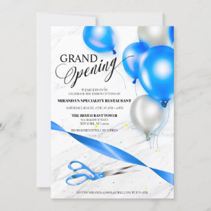 restaurant opening invitations zazzle