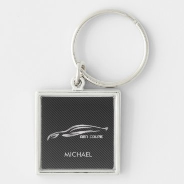 Silver Gen Coupe Silhouette Logo Keychain