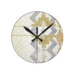 silver,gold,rustic,retro,vintage,geometry,pattern, round wall clocks
