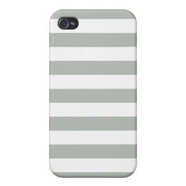 Silver Gray Stripes Pattern iPhone 4/4S Case