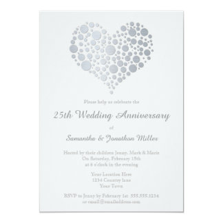 25th Silver Wedding Anniversary Invitations