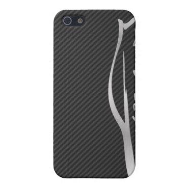 Silver Infiniti G35 Logo w/ Faux Carbon Fiber iPhone SE/5/5s Cover