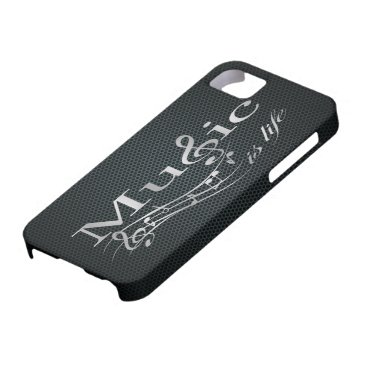 Silver Music is Life with Metal Mesh iPhone SE/5/5s Case