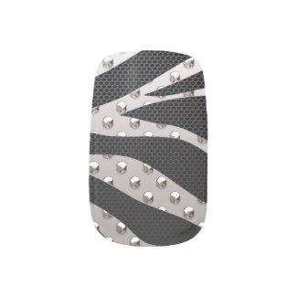 Silver Zebra Metal Texture Minx Nail Art