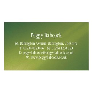 Simple Apple Green Gradient Pack Of Standard Business Cards