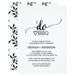 Simple, Sweet Floral & Scripty Writing I Do BBQ Party Invitation