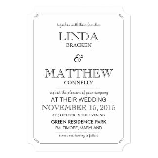 Simple Elegant Script Modern Wedding Rsvp Card