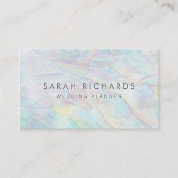 Simple Elegant Opal Wedding Planner Business Cards