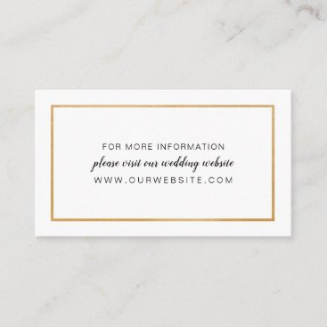 Simple Gold Frame wedding website or info card