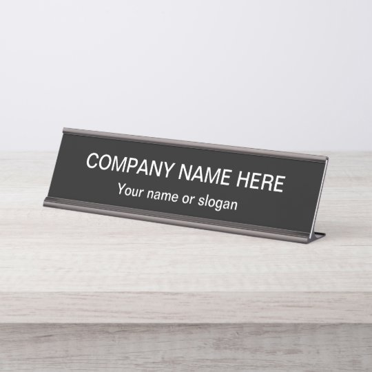 Simple Office Professional Design Template Desk Name Plate