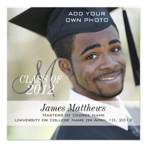 Male Graduation Invitations