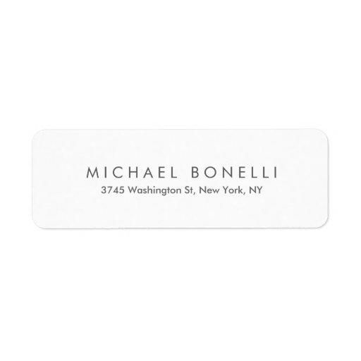 Simple Plain Legible Clear Return Address Label