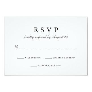 Simply Stylish Black And White Wedding Response Card