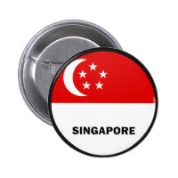 Singapore Roundel quality Flag 2 Inch Round Button