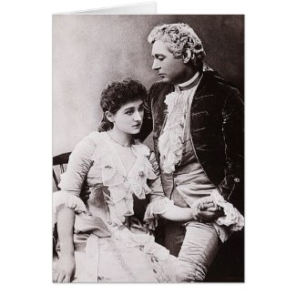 Sir Charles Wyndham and Miss Mary Moore Greeting Card