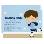 Skating Party | Brunette boy Invitation