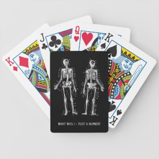 Skeleton Questions for Halloween Bicycle Card Decks
