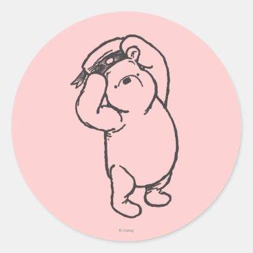 Sketch Winnie the Pooh 1 Classic Round Sticker
